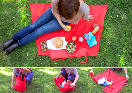Unzipping Blanket Totes
