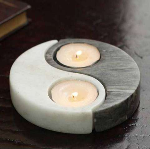 Harmonious Candle Containers Ying Yang Candle Holder