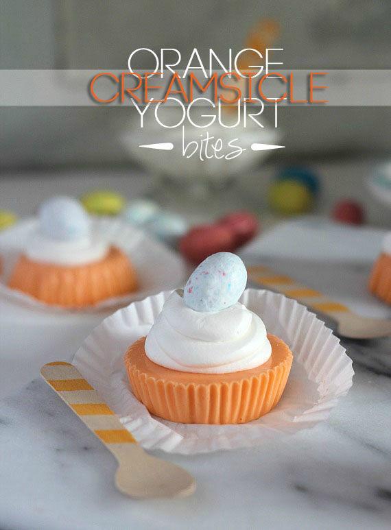 Creamsicle Yogurt Bites