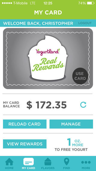 Mobile Froyo Rewards