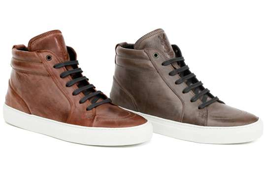 Earthy-Toned High Tops