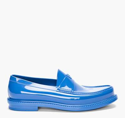 Luxe Sky-Blue Loafers