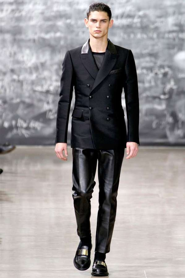 Leather-Lappelled Catwalks