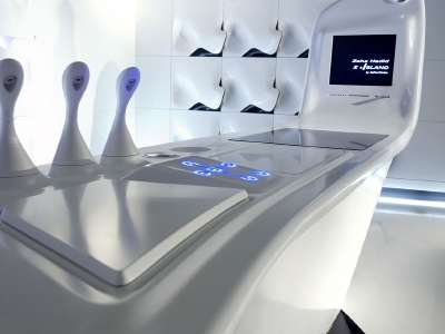 Z island kitchen of the future by dupont corian