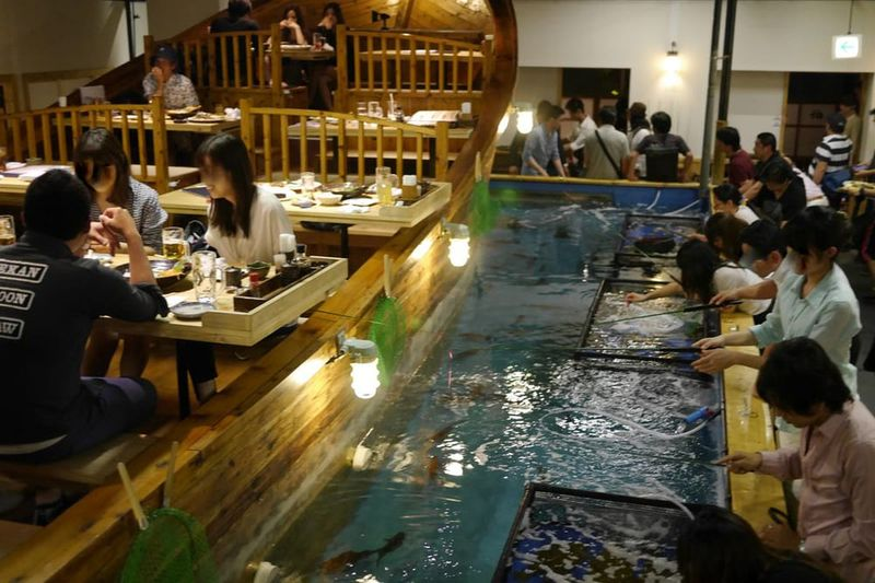 Interactive Fishing Restaurants
