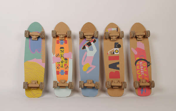 Crafty Cardboard Skateboards