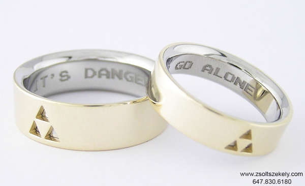 gamer inspired wedding bands