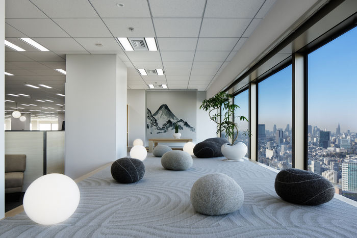 Zen office interiors zen office for Zen office design ideas