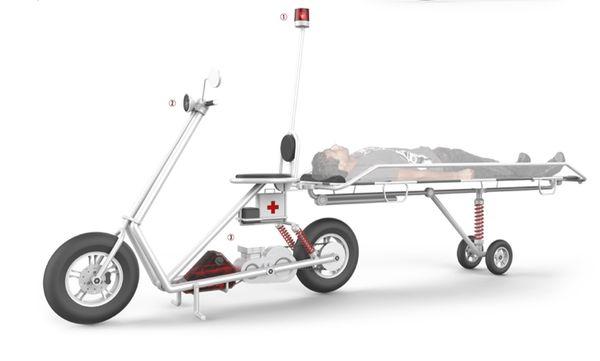 Compact Ambulance Motorbikes