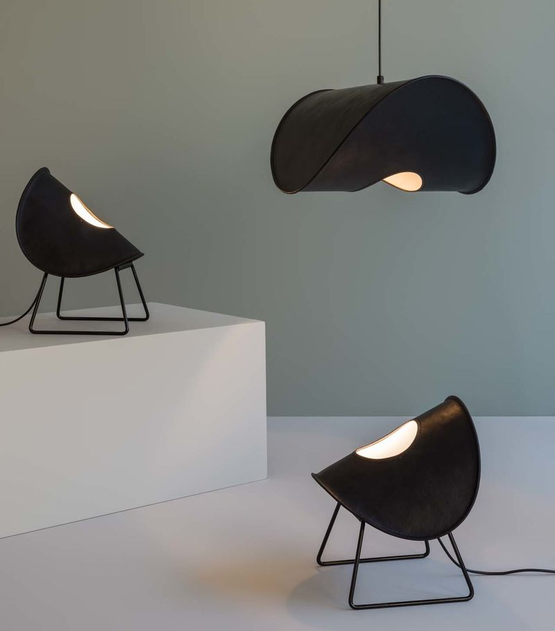Hand-Stitched Leather Lamps