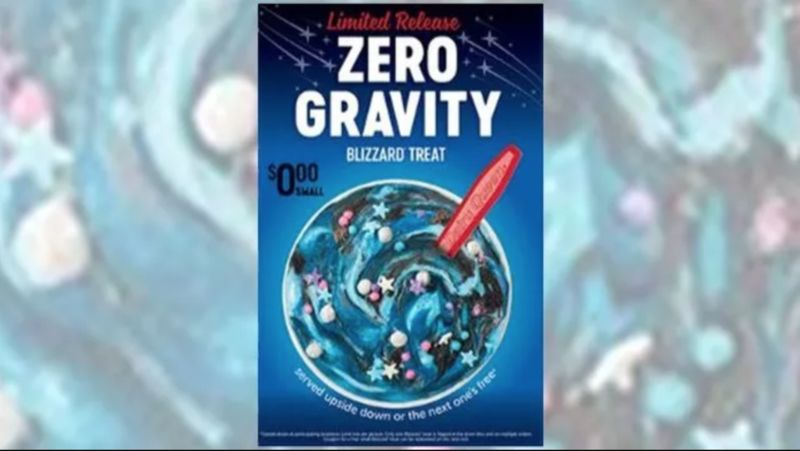 Space Mission Celebrating Desserts Zero Gravity Blizzard