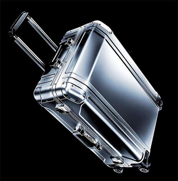 Sleek Aluminum Suitcases