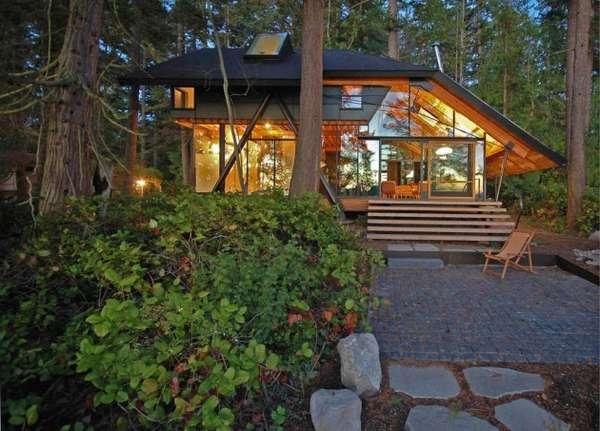 Folded Transparent Cottages