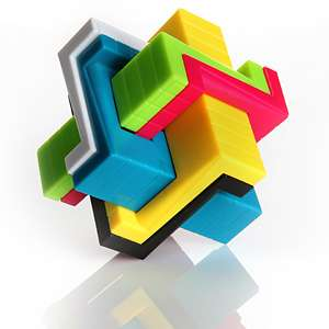 Colorful Mind Teaser Cubes
