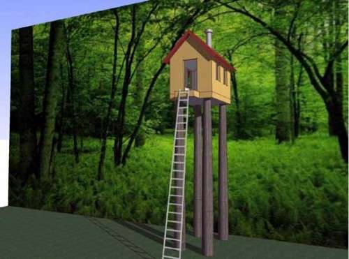 Treehouses on Log Stilts