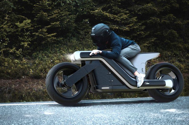 Aerodynamic Z-Shaped Motorcycles