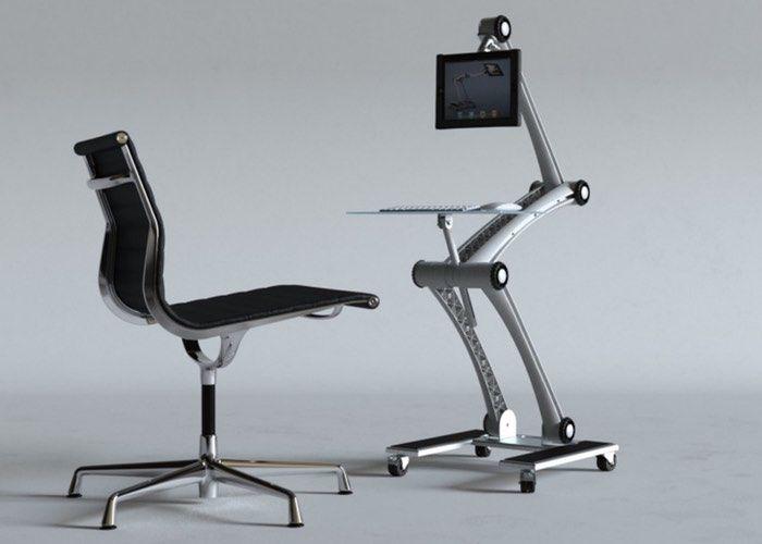 wall-mounted standing desks : compact standing desk