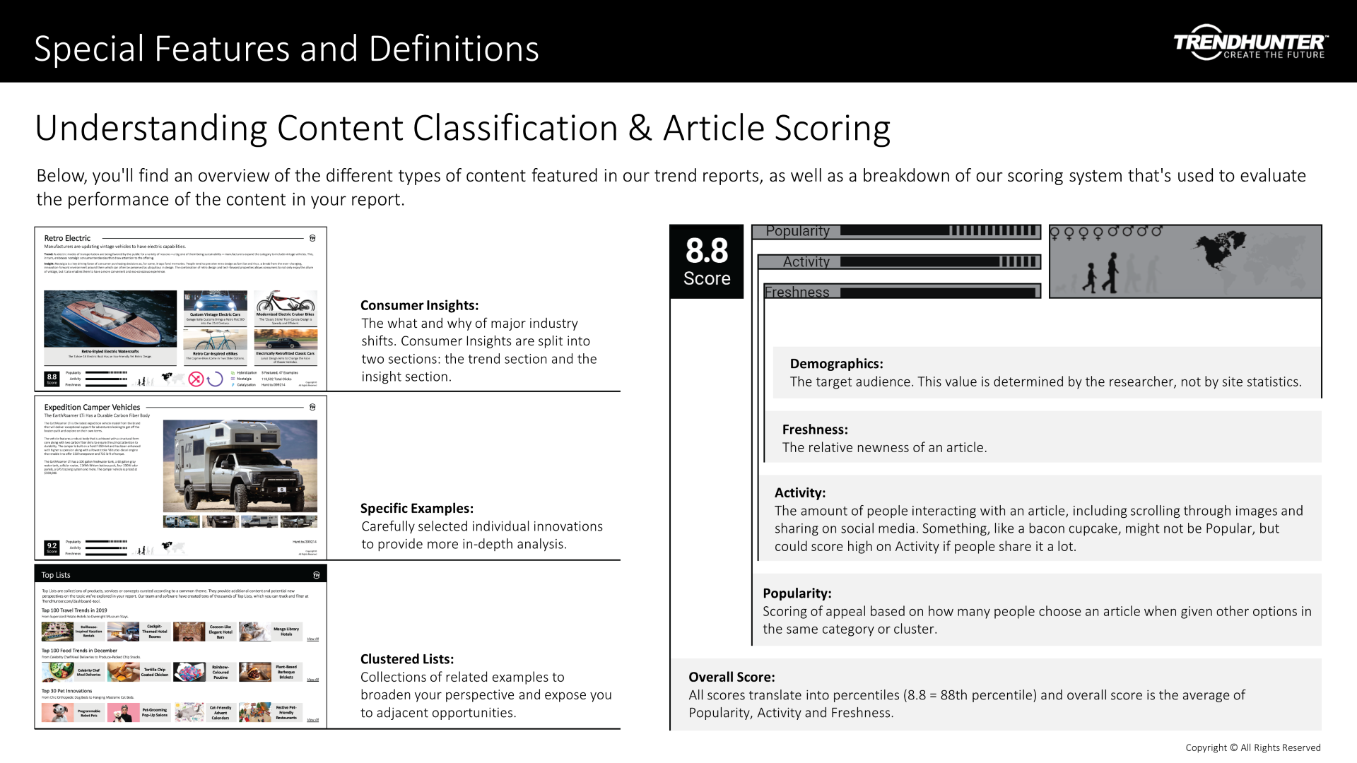 Image Slide: Understanding content classification and article scoring