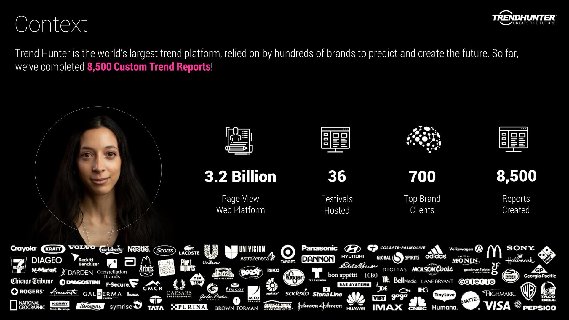 Image Slide: Trend Hunter platform description